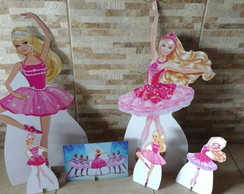 Kit Barbie Bailarina - mdf