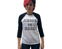 Camiseta Manga Raglan Jikook is Real