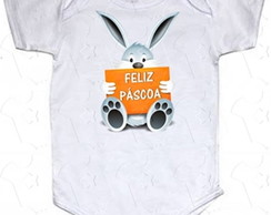Body Bebe Algodao Feliz Pascoa PS10