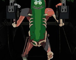 Poster Rick and Morty Pickle Rick - Tamanho 90 x 60 cm