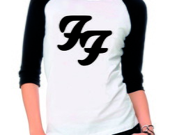Camiseta Foo Fighters Raglan 3 4 Banda De Rock no Elo7  eb7bd15dae079