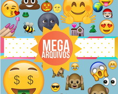 Mega Kit Digital com 853 Emoji Whatsapp em PNG