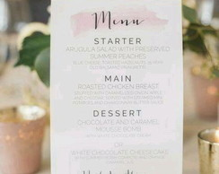 Menu Aquarela