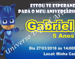 Convite Digital Heróis Pijamas Pjmasks Pj Masks Whats Face,