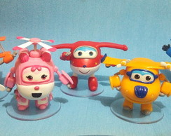 Personagens Super Wings em biscuit