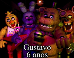 Poster Painel Festa Decorativo Fnaf Five Nights at Freddy's