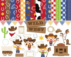 Kit Digital Scrapbook Cowboy 3