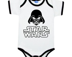 Body Bebê Divertido Star Wars Geek Darth Vader