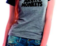 Camiseta Raglan Baby Look Arctic Monkeys