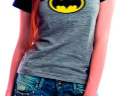 Camiseta Raglan -Baby Look Batman
