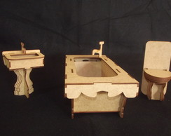 MINIATURA KIT LAVABO BARBIE