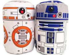 Kit Almofadas Star Wars BB8 e R2D2 Geek Nerd
