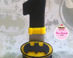 Vela decorada Batman em biscuit