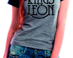 Camiseta Raglan Baby Look Kings Of Leon