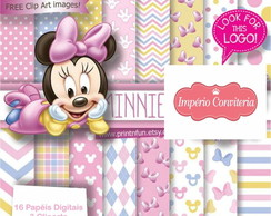 Kit Digital Scrapbook Mickey & Minnie 1