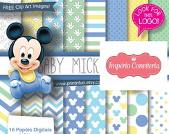 Kit Digital Scrapbook Mickey & Minnie 2