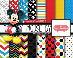 Kit Digital Scrapbook Mickey & Minnie 12