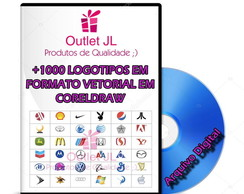 Monster Pack + 1200 Logotipos / Logomarcas - Coreldraw