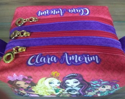 Estojo triplo personalizado - Ever After High