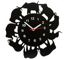 7ffde9683b4 ... Relógio de Parede Decorativo - Modelo Elefantes