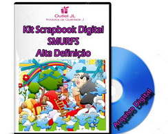 Mega Pack Scrapbook Digital - Smurfs