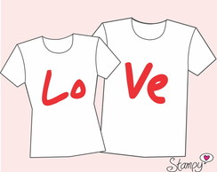 Kit - Camiseta Casal LOVE