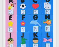 Alfabeto Ilustrado 4 Tipos De Letras Elo7