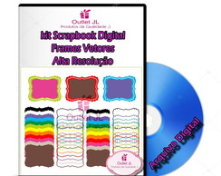 Mega Pack Scrapbook Digital - Frames e Molduras