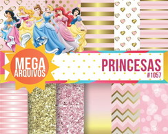 Kit Papel digital princesas
