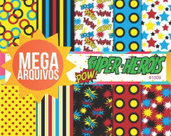 Papel digital super herois