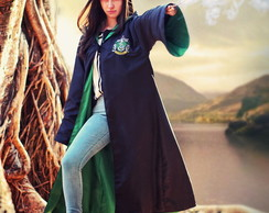 Capa Manto Harry Potter - Sonserina Cosplay (Verde)