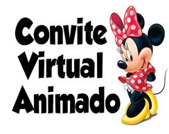 Convite Virtual Animado Tema Minnie Vermelha