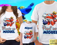 KIT CAMISETA PERSONALIZADA SUPER WINGS C/3