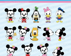 Kit Digital Minnie e Mickey Cuties 06
