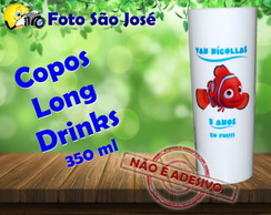 Copos Long Drinks personalizados 350 ml procurando nemo