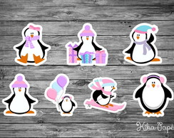 Aplique Pinguins Rosa