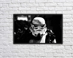 Quadro Decorativo Star Wars Stormtrooper Com Moldura 0006