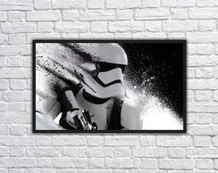 Quadro Decorativo Star Wars Stormtrooper Com Moldura 0007