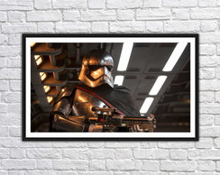 Quadro Decorativo Star Wars Stormtrooper Com Moldura 0008
