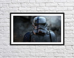 Quadro Decorativo Star Wars Stormtrooper Com Moldura 0021