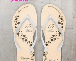 CHINELO 15 ANOS BEGE PERSONALIZADO