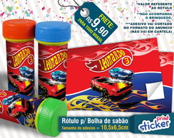 Rótulo Bolha de Sabão - Hot Wheels