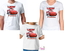 Kit Camisa - Carros Disney