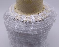 ... chapéu boneca de palha festa junina com renda e trança 25 un 9dc648cec6