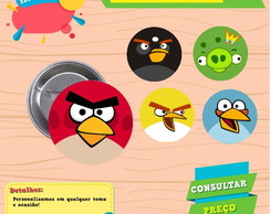 Botons ou imãs - Angry Birds
