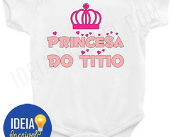 Body Infantil Princesa do Titio