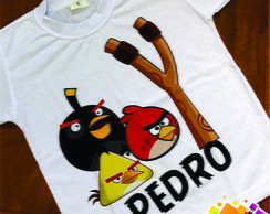 Camiseta Infantil Personalizada Angry Birds