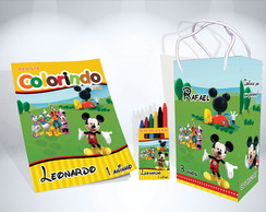 Kit de Colorir A Casa do Mickey Mouse Sacola Revista Giz