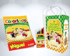 Kit de colorir do Chaves Revista Sacola Giz + brinde