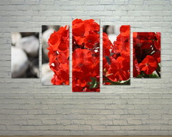 Quadro Decorativo Tela Canvas - Flores - FW09C5g